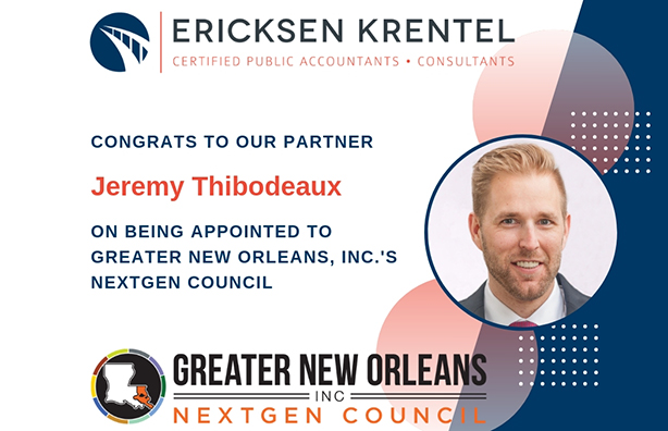 Ericksen Krentel Continues Commitment to Region with NextGen Council Appointment