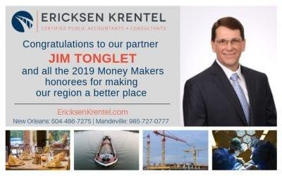 Jim Tonglet Named 2019 CityBusiness Money Maker