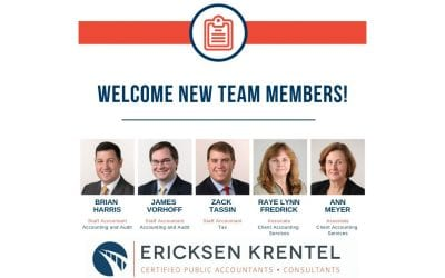 Ericksen Krentel Expands Accounting, Audit, Tax Teams