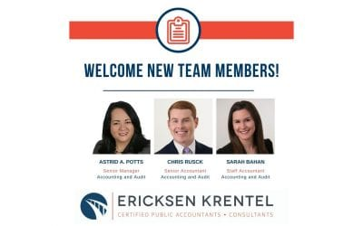 Ericksen Krentel Expands Assurance Team With Senior Manager, Senior and Staff