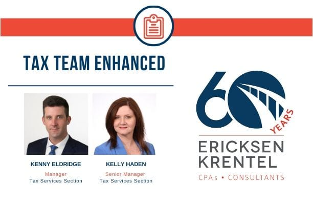 Ericksen Krentel Enhances Tax Manager Team