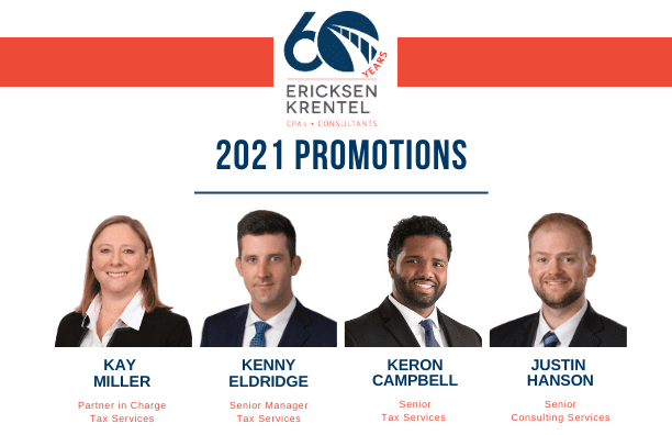Ericksen Krentel Promotes 4 to Start the New Year